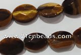 CTE1094 15.5 inches 12*16mm faceted oval yellow tiger eye beads