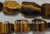 CTE1111 16*18mm - 17*23mm faceted freeform yellow tiger eye beads