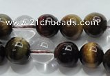 CTE1126 15 inches 8mm round mixed tiger eye & white crystal beads