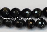 CTE1190 15.5 inches 14mm faceted round blue tiger eye beads