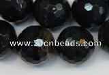 CTE1192 15.5 inches 18mm faceted round blue tiger eye beads