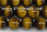 CTE1228 15.5 inches 10mm round A grade yellow tiger eye beads