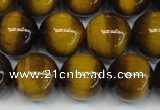 CTE1229 15.5 inches 12mm round A grade yellow tiger eye beads