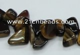 CTE123 15.5 inches 8*12mm nugget yellow tiger eye beads wholesale