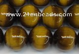 CTE1231 15.5 inches 16mm round A grade yellow tiger eye beads