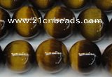 CTE1236 15.5 inches 10mm round A+ grade yellow tiger eye beads