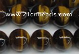 CTE1243 15.5 inches 8mm round AA grade yellow tiger eye beads