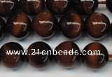 CTE1268 15.5 inches 6mm round AB+ grade red tiger eye beads