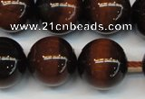 CTE1273 15.5 inches 16mm round AB+ grade red tiger eye beads