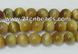 CTE128 15.5 inches 8mm round yellow tiger eye gemstone beads