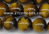 CTE1312 15.5 inches 10mm round B grade yellow tiger eye beads