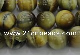 CTE1443 15.5 inches 10mm round golden & blue tiger eye beads