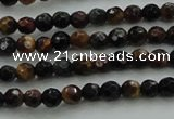 CTE1470 15.5 inches 4mm faceted round mixed tiger eye beads
