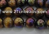 CTE1502 15.5 inches 8mm round AB-color yellow tiger eye beads