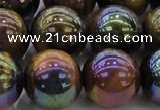 CTE1505 15.5 inches 14mm round AB-color yellow tiger eye beads