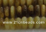 CTE1512 15.5 inches 6*10mm rondelle golden tiger eye beads