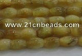 CTE1513 15.5 inches 4*6mm rice golden tiger eye beads wholesale