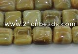 CTE1526 15.5 inches 10*10mm square golden tiger eye beads wholesale