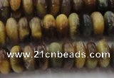 CTE1547 15.5 inches 6*10mm rondelle golden & blue tiger eye beads