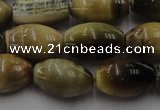 CTE1554 15.5 inches 10*14mm rice golden & blue tiger eye beads wholesale