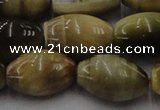 CTE1557 15.5 inches 15*20mm rice golden & blue tiger eye beads wholesale