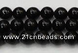 CTE1600 15.5 inches 4mm round AB grade black tiger eye beads