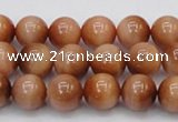 CTE1650 15.5 inches 4mm round sun orange tiger eye beads