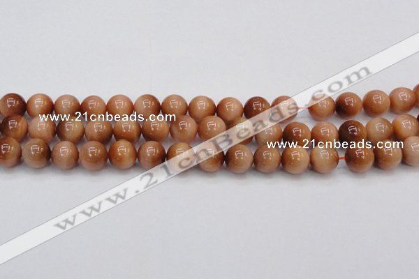 CTE1652 15.5 inches 8mm round sun orange tiger eye beads
