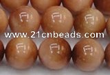 CTE1655 15.5 inches 14mm round sun orange tiger eye beads