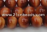 CTE1664 15.5 inches 12mm round sun orange tiger eye beads