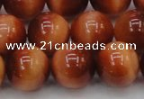 CTE1666 15.5 inches 16mm round sun orange tiger eye beads