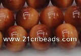 CTE1667 15.5 inches 18mm round sun orange tiger eye beads