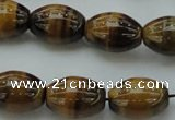 CTE1703 15.5 inches 15*20mm rice yellow tiger eye beads