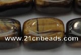 CTE1709 15.5 inches 14*22mm nuggets yellow tiger eye beads