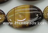 CTE1721 15.5 inches 30*40mm oval yellow tiger eye beads wholesale
