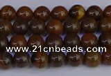 CTE1780 15.5 inches 4mm round yellow iron tiger beads wholesale