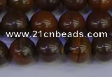 CTE1783 15.5 inches 10mm round yellow iron tiger beads wholesale
