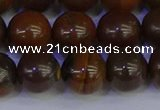 CTE1785 15.5 inches 14mm round yellow iron tiger beads wholesale