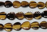 CTE180 15.5 inches 12*12mm heart yellow tiger eye gemstone beads