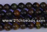 CTE1800 15.5 inches 4mm round blue iron tiger beads wholesale