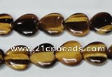 CTE182 15.5 inches 16*16mm heart yellow tiger eye gemstone beads