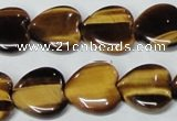 CTE185 15.5 inches 22*22mm heart yellow tiger eye gemstone beads