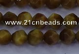CTE1901 15.5 inches 6mm faceted nuggets golden tiger eye beads