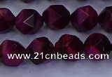 CTE1907 15.5 inches 8mm faceted nuggets red tiger eye beads