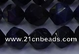 CTE1919 15.5 inches 12mm faceted nuggets blue tiger eye beads