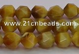 CTE1933 15.5 inches 10mm faceted nuggets golden tiger eye beads