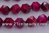 CTE1941 15.5 inches 6mm faceted nuggets red tiger eye beads