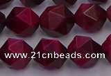 CTE1944 15.5 inches 12mm faceted nuggets red tiger eye beads