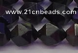 CTE1984 15.5 inches 12mm faceted nuggets blue tiger eye beads