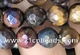 CTE2002 15.5 inches 8mm faceted round AB-color mixed tiger eye beads